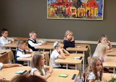 Skolēni klasē