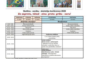 Vecāku-skolēnu konference 09.03-12.03
